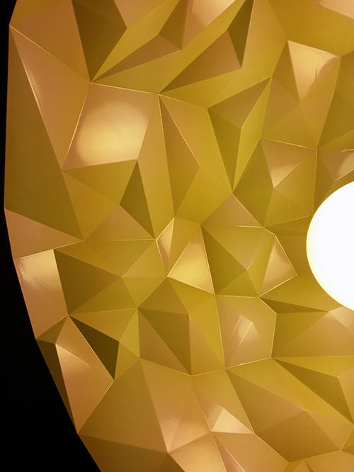 Interior of the lamp shade