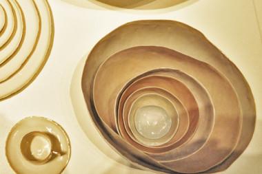Goldrim bowls, gold bowls & Grey bowls
