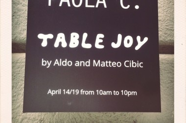 PAOLA C. // TABLE JOY  by Aldo and Matteo Cibic
