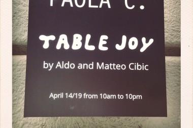 PAOLA C. // TABLE JOY  by Aldo and Matteo Cibic